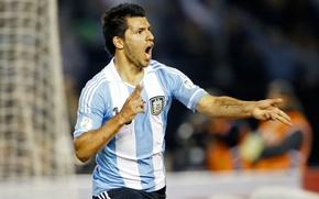 Picture football, Argentina, football, forward, goal, Aguero, Manchester City, Kun, Aguero