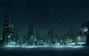 Wallpaper snow, figure, Winter