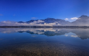 Picture mountains, reflection, Germany, Bayern, Alps, Germany, Bavaria, Alps, lake Forggensee, Lake Forggensee