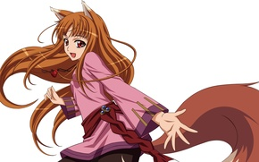 Picture Anime, Horo, Spice and wolf, Spice and Wolf, Horo, Tail., A friend