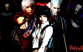 Picture Dante, Devil May Cry, Virgil, Lady