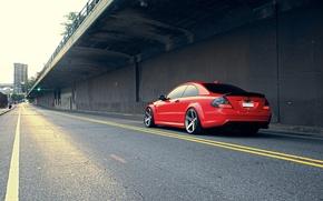 Picture Mercedes-Benz, red, vossen, CLK63 AMG Black Series