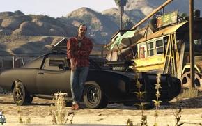 Picture machine, bus, Trevor, Grand Theft Auto 5