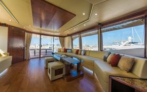Picture Dubai, salon, luxury yacht Majesty, tirenaboats
