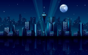 Picture vector, graphics, midnight city