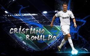 Picture wallpaper, sport, Cristiano Ronaldo, stadium, football, Santiago Bernabeu, player, Real Madrid CF