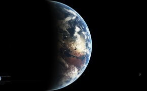 Picture planet, satellites, ancient, Mars, Deimos, Fobos