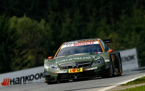 Picture grass, trees, markup, track, green, mercedes, Mercedes, amg, dtm, DTM, robert wickens, c-class coupe