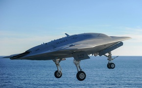 Picture the rise, combat, unmanned, camera, X-47B, flying, Northrop Grumman