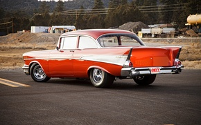 Picture chevrolet, air, 1957, bel