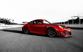 Wallpaper red, track, 911, Porsche, Porsche, tuning, GT2 RS, Techart, Porsche