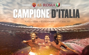 Picture wallpaper, sport, Italy, stadium, football, Champions, AS Roma, The Olympic Stadium