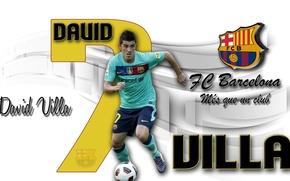 Picture wallpaper, sport, football, David Villa, player, FC Barcelona, My As a Club, More Then a …