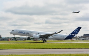 Picture flight, airport, first, aircraft, 14 Jun 2013, photo Wallpaper, Toulouse, Airbus A350 XWB MSN1 F-WXWB