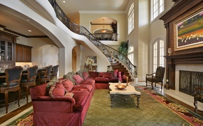 Picture home, villa, luxury, texas, great hall