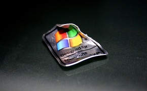 Wallpaper macro, minimalism, logo, Windows XP