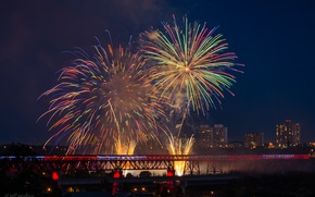 Picture holiday, fireworks, Jeff Wallace, Canada Day 2014, Edmonton's High Level Fireworks