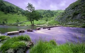 Picture the sky, landscape, river