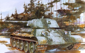 Picture figure, art, T - 34