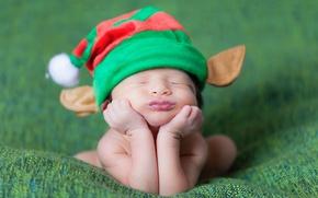 Picture hat, sleep, baby, child