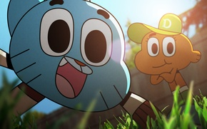 Picture Grass, Camera, Darwin, Cap, selfie, The Gumball, The amazing world of Gumball