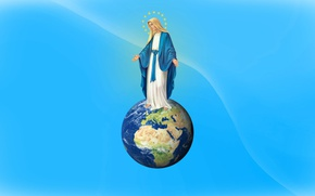 Picture world, earth, light, star, sky, sun, women, Madonna, church, mom, Jesus Christ, Virgin Mary