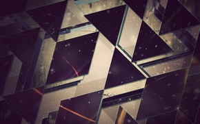 Picture abstraction, Wallpaper, triangles, hq Wallpapers