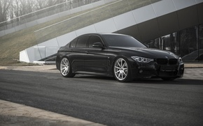 Picture BMW, black, tuning, 335i, F30, stance