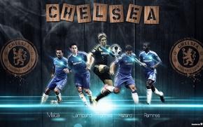 Picture Chelsea, Torres, Azar, emblem Mat, Ramirez, Lampard