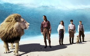 Picture wave, Leo, heroes, The Chronicles Of Narnia, chronicles of Narnia, Aslan