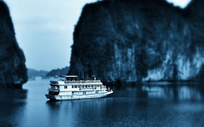 Picture ship, Bay, Vietnam, Halong