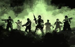 Picture green, gun, weapons, smoke, soldiers, gas, machine gun, Half-life, rifle, opposing force