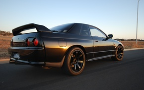 Picture Japan, Nissan, Wallpaper, Drift, Japan, Nissan, GT-R, Drift, R32, Black, Coupe, Skyline, Wallpapers, Coupe, Skyline, …