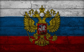 Picture Board, Russia, coat of arms, tricolor, double-headed eagle