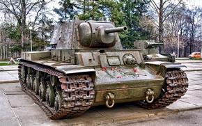 Picture flowers, memory, monument, tanks, memorial, clove, Soviet