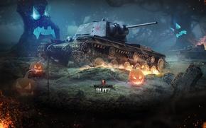 Picture Halloween, USSR, World of Tanks, World Of Tanks, KV-1, Wargaming Net, Heavy Tank, WoTB, Flash, …