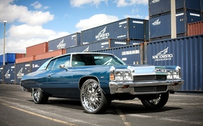 Picture Chevrolet, wheels, Impala, 1972, hrom