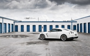 Picture white, 360forged, R35, Nissan GT-R