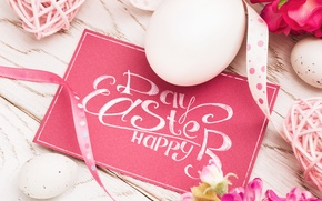Picture flowers, eggs, spring, Easter, flowers, spring, Easter, eggs, decoration, Happy