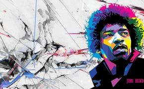 Picture legend, guitarist, genius, Jimi Hendrix, Rock, virtuoso