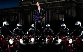 Picture motorcycles, Olga Kurylenko, Olga Kurylenko, Campari Calendar 2010