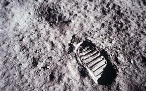 Wallpaper the moon, trail, Apollo 11