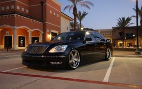 Picture black, lights, Lexus, Lexus, sedan, drives, 430