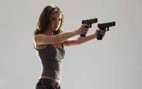 Wallpaper summer Glau, guns, summer glau