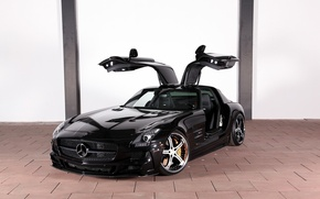 Picture tuning, Mercedes-Benz, drives, Mercedes, AMG, Coupe, SLS, the front, MEC Design, Tuning, V-8