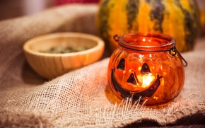 Picture lamp, Halloween, pumpkin
