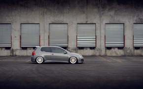 Picture grey, volkswagen, profile, Golf, golf, Volkswagen, gti, MK5