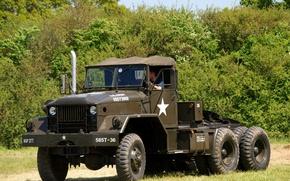 Picture car, American, military, Semi Tractor, 5-ton, M52