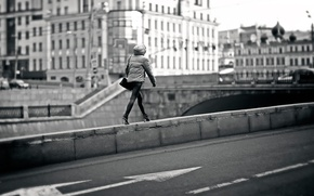 Picture girl, the city, Moscow, gait, street walk