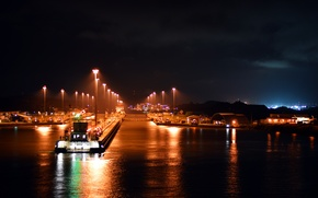 Picture gate, channel, gateway, Panama